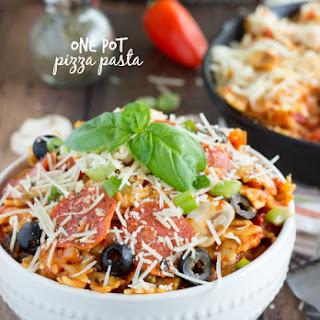 {One Pot} Pizza Pasta