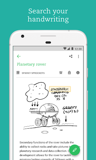 Screenshot 5 for Evernote's Android app'