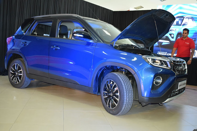 The New Toyota Urban Cruiser is showcased at Toyota Kenya Limited in Nairobi on April 22, 2021. The latest SUV will start retailing from Sh2.7million