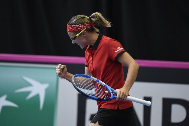 Uitmuntende Kirsten Flipkens neemt ex-nummer één van de wereld te grazen en zet België op 1-0!