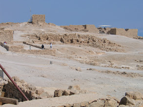 Photo: Massada : plateau de la forteresse