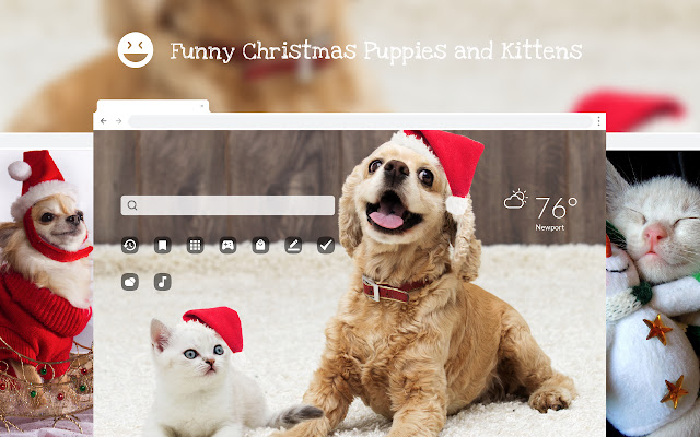 Funny Christmas Puppies & Kittens Wallpapers