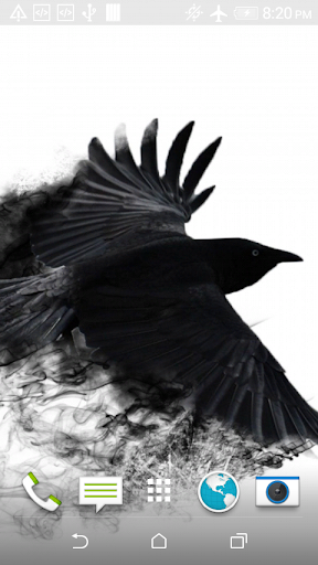Black Crow 3D Wallpaper