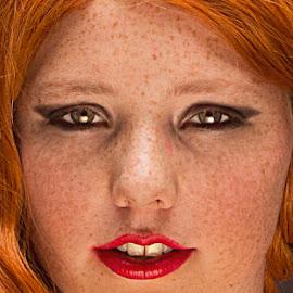 Iris by Jeannet Bijlsma - People Portraits of Women ( red, girl, portraits of women, woman, redhead, beauty, portraits, photo, close up, portrait, closeup )