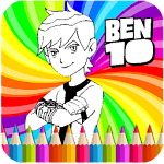 Coloring Book for Bin 10 Icon