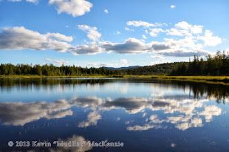 Photo: Dix Pond at 6:00 p.m.