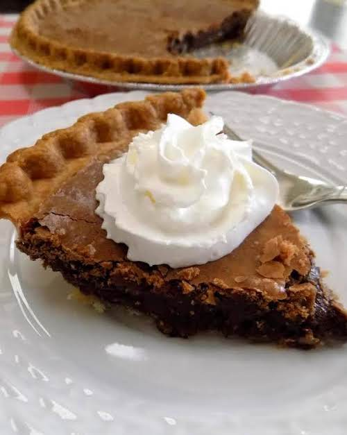 """Chocolate Pie """"The best chocolate pie!! There is a rich butter taste..."""