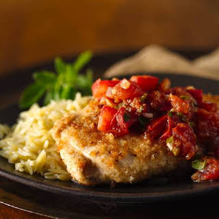 Breaded Chicken with Tomatoes.