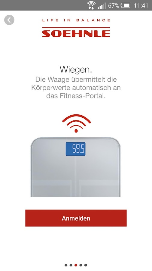 Soehnle Web Connect – Screenshot