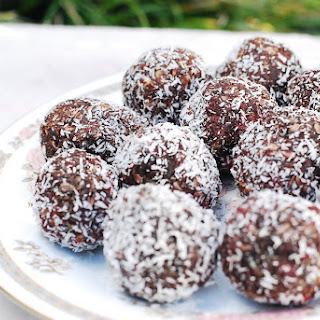 Raw Cacao Truffles.