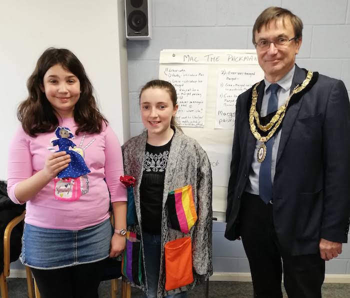 Mayor visits group keeping town's myths and legends alive
