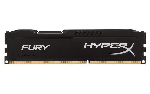 Bộ nhớ DDR3 Kingston 8GB (1600) Hyper X Fury (HX316C10FB/8) (Đen)