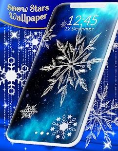 Snow Stars Free Wallpaper - náhled