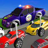 Police Elevated Car driver: Crime city cops chase