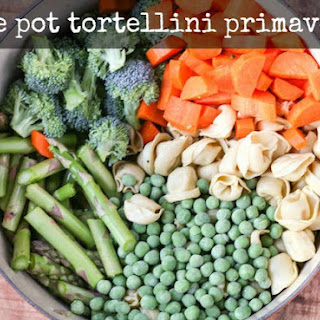 One Pot Tortellini Primavera