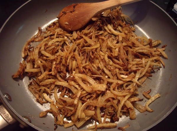 Saute for 40 minutes until deep golden brown; stirring occasionally. Add thyme, balsamic vinegar,...