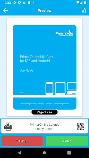 PrinterOn for Android iPhone