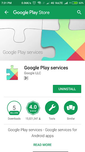 Play services and error(update) 1.2 screenshots 3