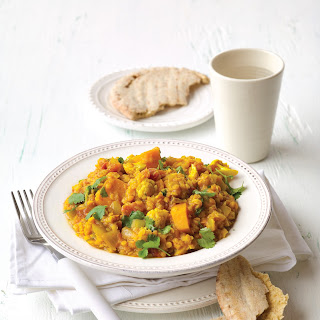 Red Lentil Dhal with Cauliflower and Pumpkin Recipe