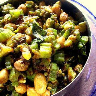 Okra Fry With Peanuts – Bhindi Fry