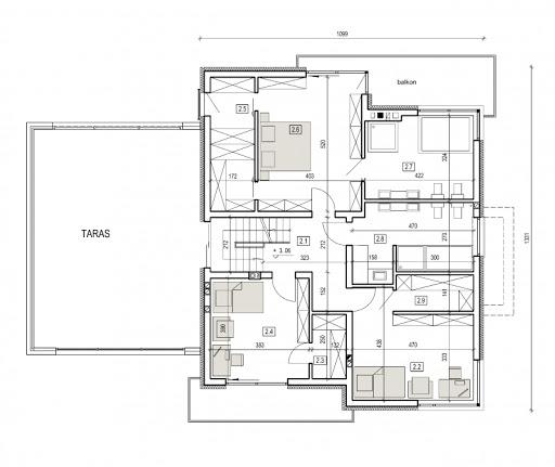 AN 001 - Rzut piętra