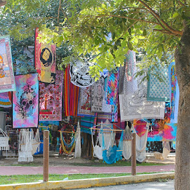 Blankets For Sale by Lena Arkell - City,  Street & Park  Markets & Shops ( orange, market, mexico, pink, green, blue, blankets,  )
