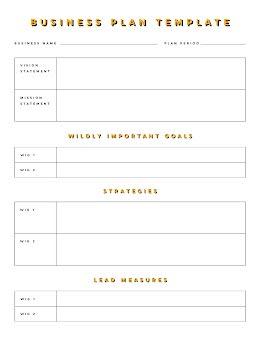 Bordered Document - Business Plan item