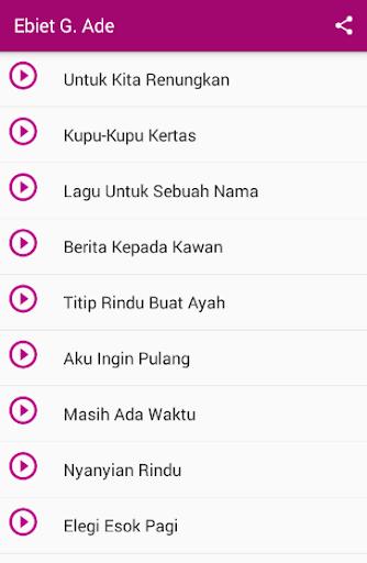 Ade enak lagu yang ebiet download g
