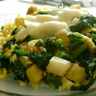 Skillet Scramble with Garlic and Kale
