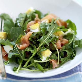 Smoked Salmon, Egg and Arugula Salad