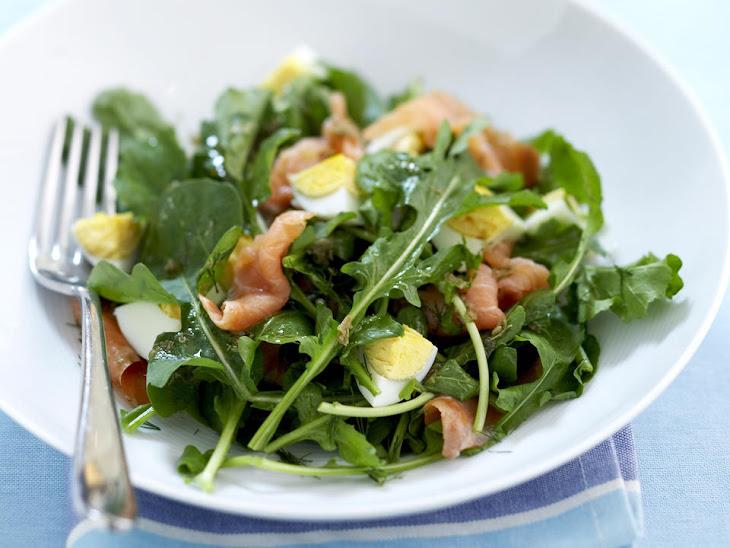 Smoked Salmon, Egg and Arugula Salad Recipe | Yummly