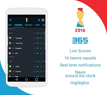 Copa America & EURO 2016 Screenshot 1
