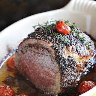 Wine Roasted Beef Tenderloin.