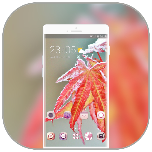 Theme for Mi8 youth winter maple leaves icon