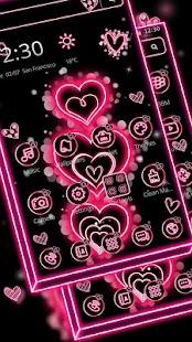 Glitter Salmon Hearts Theme - náhled
