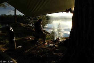 Photo: 1.8.2010 Toinen leiripaikka haapasaarella. Makkarat piti paistaa, ottaa olut ja katsella iltaruskoa.