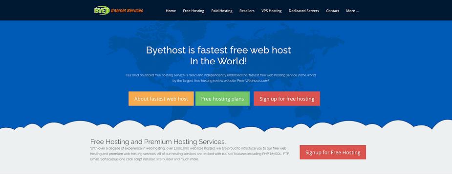 ByetHost cung cấp dịch vụ lưu trữ web miễn phí.
