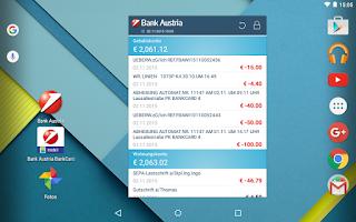 Screenshot of Bank Austria MobileBanking