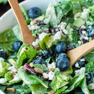 Blueberry Broccoli Spinach Salad.