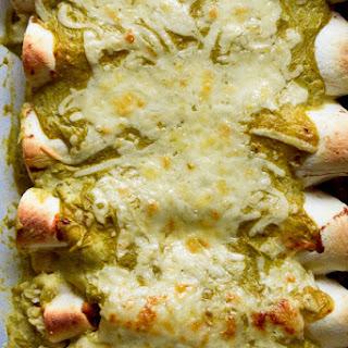 Roasted Hatch Chile & Chicken Enchiladas.