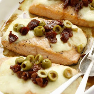 Baked Salmon with Olives