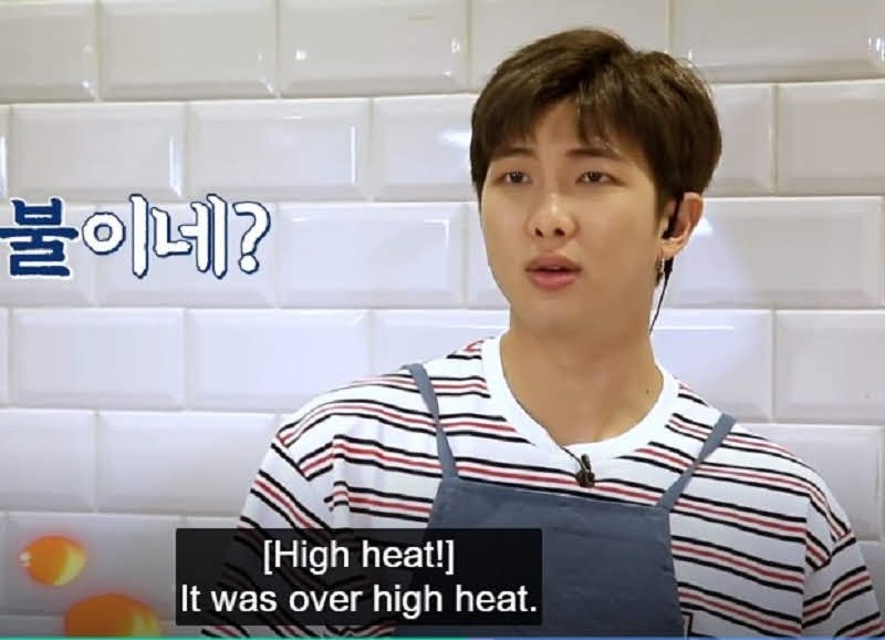 Rm Doing Cooking in Run BTS episode 103