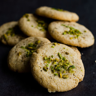 Tahini Black Pepper Shortbread Cookies