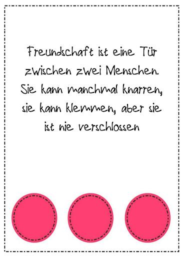 ドイツでの友人のための引用符