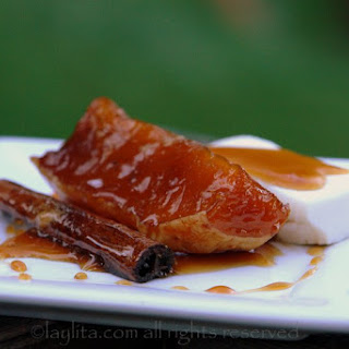 Dulce De Zapallo Or Candied Squash In Spiced Syrup.
