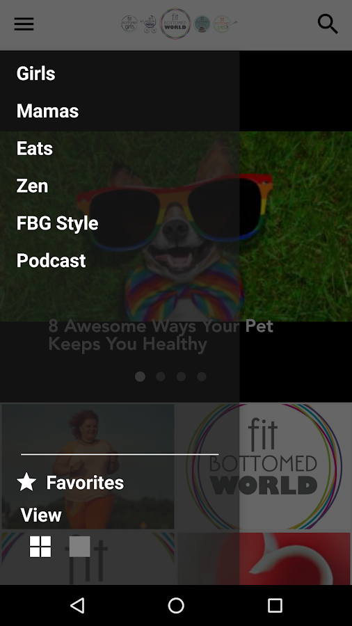 Fit Bottomed World App- screenshot