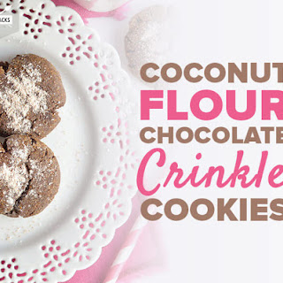 Coconut Flour Chocolate Crinkle Cookies.