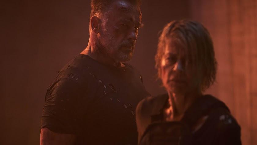 Arnold Schwarzenegger y Linda Hamilton en el filme (Foto: Kerry Brown).