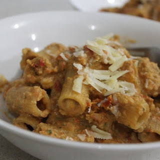 Jamie Oliver's Trapani Style Rigatoni.