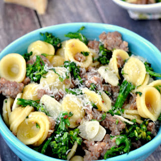 Sausage Parmesan Orecchiette with Broccolini